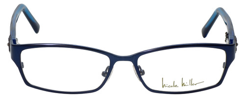 Nicole Miller Designer Eyeglasses Bowery-03 in Indigo Black 53mm :: Rx Single Vision