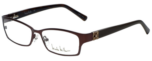 Nicole Miller Designer Reading Glasses Bowery-01 in Matte Espresso 53mm