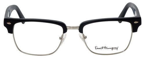 Ernest Hemingway Designer Reading Glasses H4828 in Matte Black Silver 53mm