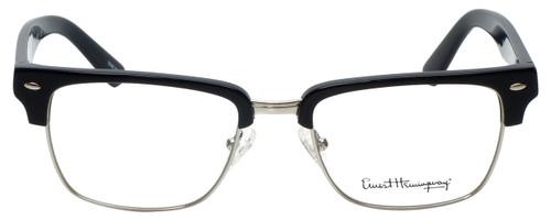 Ernest Hemingway Designer Reading Glasses H4828 in Shiny Black Silver 53mm