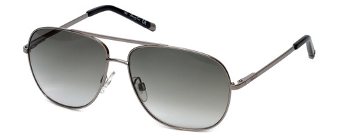 Kenneth Cole Designer Sunglasses KC7044-10P in Silver Frame with Grey Gradient Lens