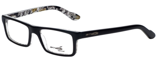 Arnette Reading Glasses Lo-Fi AN7060-1119 in Black on Graphics with Blue Light Filter + A/R Lenses
