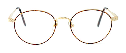 Fashion Optical Reading Glasses Novara in Gold Demi Amber with Blue Light Filter + A/R Lenses