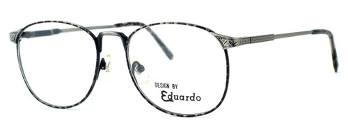 Fashion Optical Reading Glasses E2038 in Grey Demi with Blue Light Filter + A/R Lenses