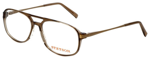 Stetson Reading Glasses ST225-151 in Brown with Blue Light Filter + A/R Lenses