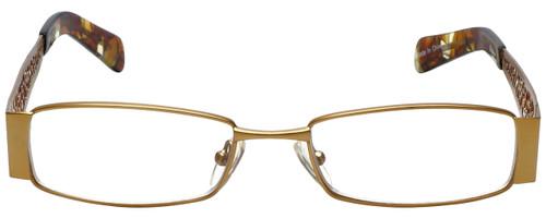 Calabria Designer Eyeglasses 812-GLD in Gold 49mm :: Custom Left & Right Lens