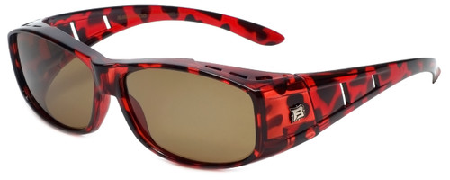 Barricade Polarized Fitover Sunglasses in Tortoise with Brown Lens (BAR603)