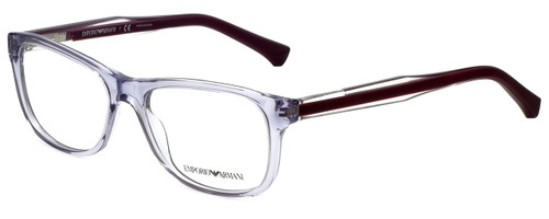 Emporio Armani Designer Eyeglasses EA3001-5071-52 in Violet Transparent 52mm :: Custom Left & Right Lens