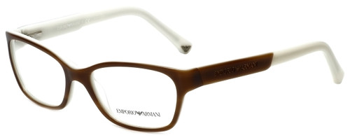 Emporio Armani Designer Eyeglasses EA3004-5047 in Striped Brown Cream 50mm :: Custom Left & Right Lens