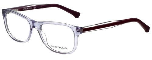 Emporio Armani Designer Eyeglasses EA3001-5071-52 in Violet Transparent 52mm :: Progressive