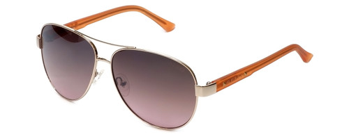 Guess  Designer Sunglasses GU7325 in Gold-Orange Frame with Amber Gradient Lens