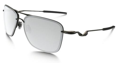Oakley Designer Sunglasses Tailhook in Carbon & Chrome Iridium Lens (OO4087-02)