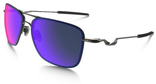 Oakley Designer Sunglasses Tailhook in Lead & Red Iridium Lens (OO4087-08)
