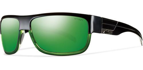 Black & Green Mirrored Lens