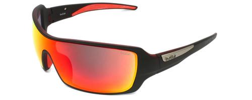 Bollé Sunglasses: Diamondback in Matte Black Red with Red Mirror