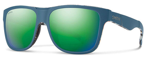 a548e472387a0 Smith Optics Lowdown XL Designer Sunglasses in Matte Corsair Ripped with  Polarized Green Mirror Lens