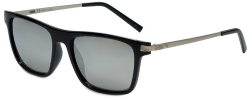 Puma Designer Sunglasses PE0043S in Black with Silver Mirror Lens