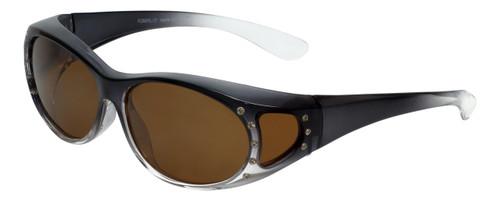 Calabria RS2866POL-2T Polarized FitOver Sunglasses with Rhinestone Medium Size