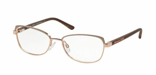 848020532965 Michael Kors Designer Eyeglasses MK7005-1047-54 in Rose Gold 54mm :: Custom  Left & Right Lens