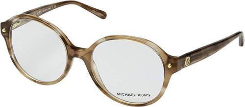 Michael Kors Designer Eyeglasses MK4041-3235-51 in Brown Stripe 51mm :: Custom Left & Right Lens