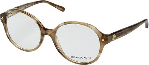 Michael Kors Designer Eyeglasses MK4041-3235-51 in Brown Stripe 51mm :: Rx Bi-Focal