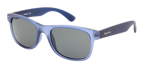 Timberland TB9063-91D Designer Polarized Sunglasses in Transparent Blue with Grey Lens