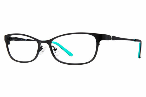 Candie's Designer Reading Glasses Kimberly-SBLK in Satin Black 51 mm