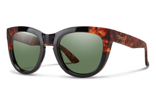 c2f892db25a9f Smith Optics Sidney Polarized Sunglasses in Black Havana with Polarized Grey  Green Lenses