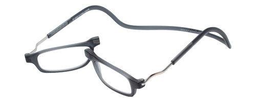 Clic Magnetic Reading Glasses in Matte Grey :: XL Fit