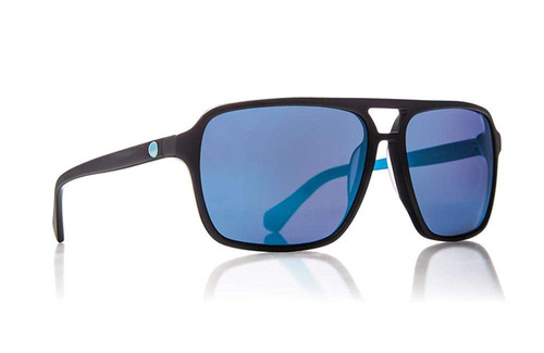Dragon Alliance Passport Sunglasses in Matte Black with Blue Mirror Lenses