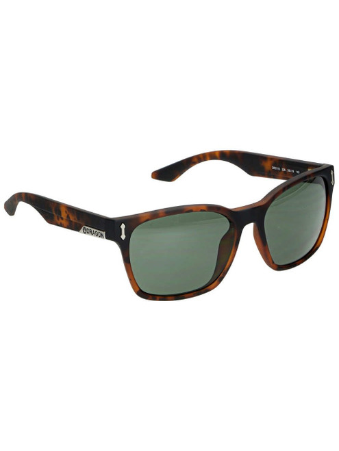 Dragon Alliance Liege Sunglasses in Matte Tortoise with Green G15 Lenses