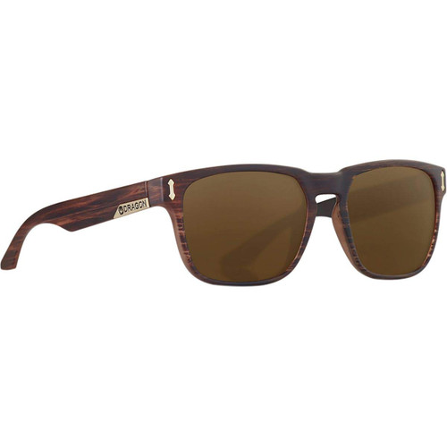 Dragon Alliance Monarch Sunglasses in Matte Woodgrain with Bronze Mirror Lenses