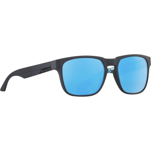 Dragon Alliance Monarch Sunglasses in Matte Black with Blue Mirror Lenses