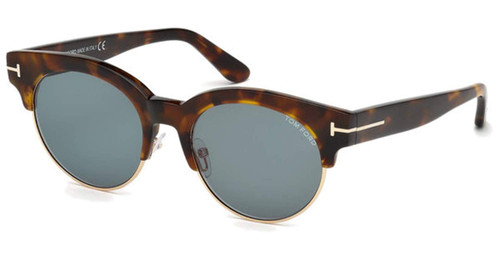 Tom Ford Designer Sunglasses FT0598-55V in Havana with Grey Lenses