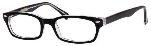 Ernest Hemingway Designer Eyeglasses H4601-BKC in Black Crystal 50mm :: Rx Single Vision