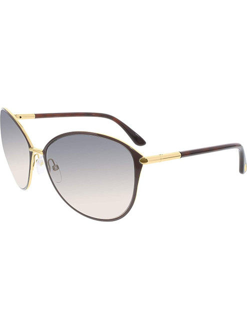 Tom Ford Designer Sunglasses Penelope FT0320-28F in Brown with Amber Gradient Lenses