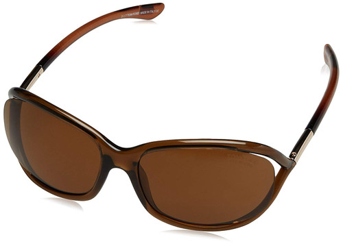 Tom Ford Designer Polarized Sunglasses Jennifer FT0008-48H in Brown with Amber Lenses