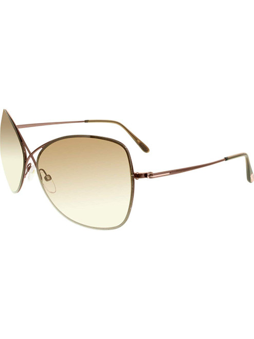 Tom Ford Designer Sunglasses Colette FT0250-48F in Brown with Amber Gradient Lenses