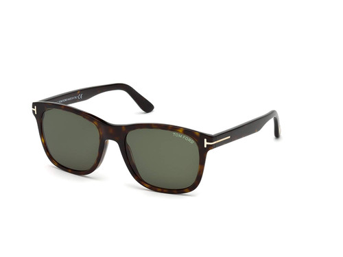 Tom Ford Designer Sunglasses Eric FT0595-52N in Havana with G15 Green Lenses
