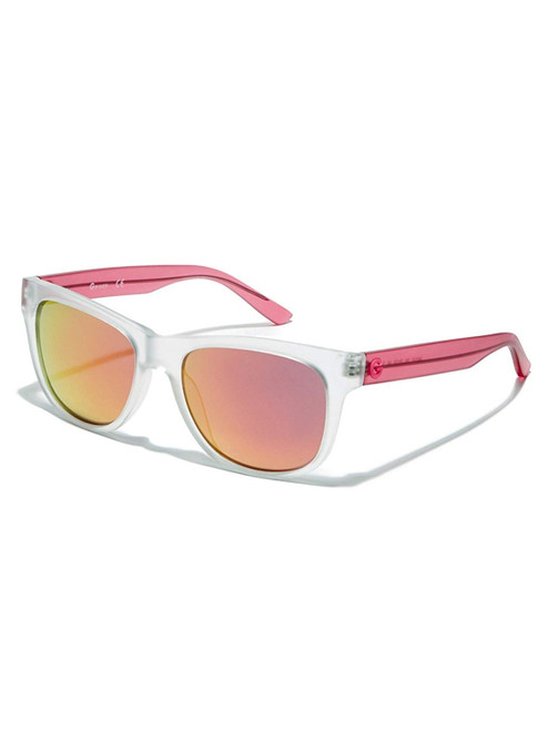 Guess  Designer Sunglasses GG1127-26U in Matte Crystal with Red Mirror Lenses