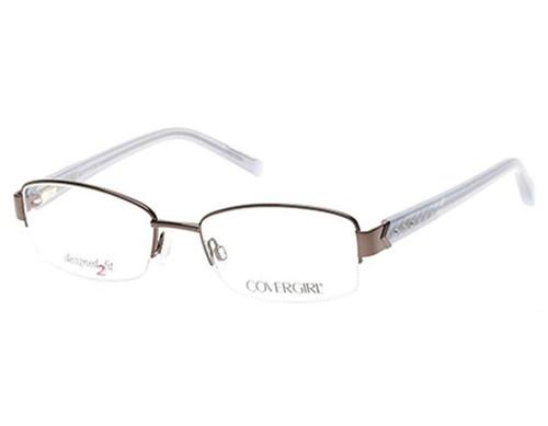 Cover Girl Designer Eyeglasses CG0443-008 in Silver 53mm :: Progressive