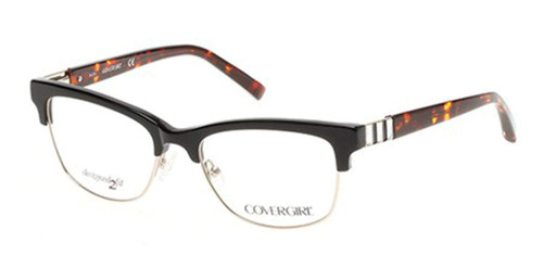 Cover Girl Designer Reading Glasses CG0461-005 in Black 53mm