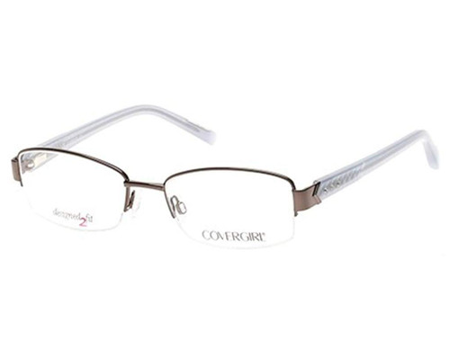 Cover Girl Designer Reading Glasses CG0443-008 in Silver 53mm