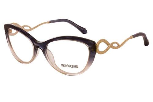 Roberto Cavalli Designer Eyeglasses RC5009-092 in Smoke Fade 54mm :: Custom Left & Right Lens