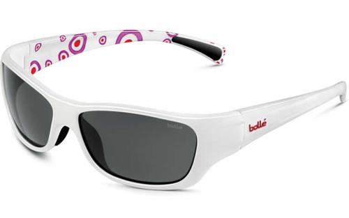 Bollé Crown Jr Designer Sunglasses in White-Dots (11402 )