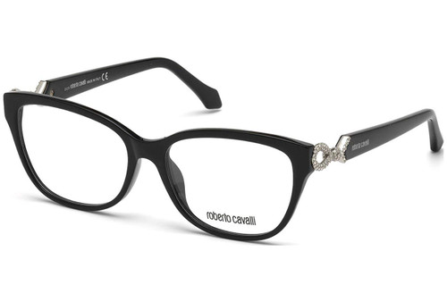 Roberto Cavalli Designer Eyeglasses RC5017-001 in Black 54mm :: Custom Left & Right Lens