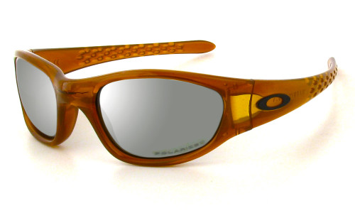 Oakley Ten X Designer Polarized Sunglasses in Orange & Silver Mirror