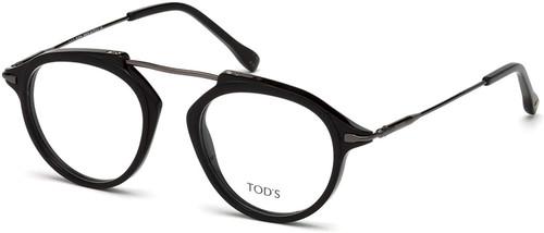 Tod's Designer Eyeglasses TO5181-001 in Black 48mm :: Custom Left & Right Lens