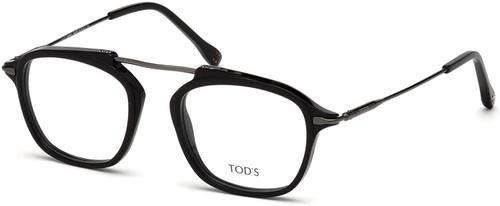 Tod's Designer Eyeglasses TO5182-001 in Black 49mm :: Custom Left & Right Lens