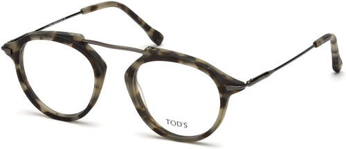 Tod's Designer Eyeglasses TO5181-056 in Havana 48mm :: Rx Single Vision